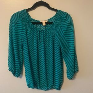 Teal Boho Dress Top- Banana Republic
